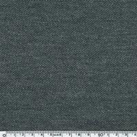 Jersey aspect Jean coloris noir, aspect chiné,  20 x 150 cm