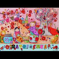 Coupon Matriochka par Petite Biounette (popeline) env. 25 x 34 cm