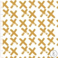 Jersey Croix coloris gold 20 x 160 cm