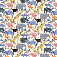 Liberty Queue for the zoo bleu et orange coloris E 20 x 137 cm