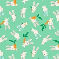 Tissu Flo's friends Valentin le lapin 20 x 110 cm