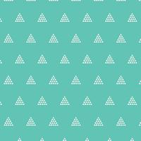 Tissu Etno Contempo Pyramids Aqua 20 x 110 cm