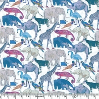 Liberty Queue for the zoo bleu coloris G 20 x 137 cm