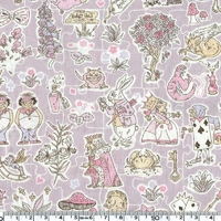 Liberty Gallymoggers Reynard fond taupe rose coloris G 20 X 137