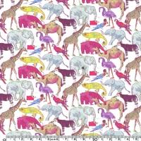 Liberty A Queue for the zoo rose coloris A 20 x 137 cm