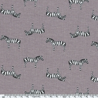 Jersey Zèbres fond gris 20 x 140 cm