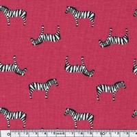 Jersey Zèbres fond rouge 20 x 140 cm
