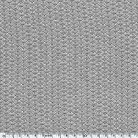 Jersey Eventails fond gris 20 x 140 cm