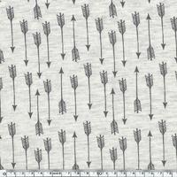 Jersey Flèches fond chiné 20 x 140 cm