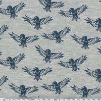 Sweat léger aigles bleus fond chiné 20 x 140 cm