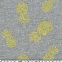 Molleton Ananas à paillettes coloris jaune 20 x 140 cm
