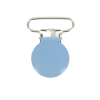 Attache-bretelle ou attache-tétine bleu 25mm