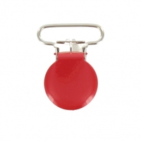 Attache-bretelle ou attache-tétine rouge 25mm