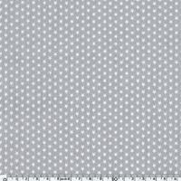 Popeline Mini étoiles blanches fond gris 20 x 140 cm