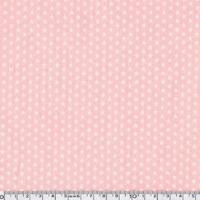 Toile enduite mini étoiles blanches fond rose 20 cm x 140 cm