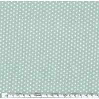Popeline Mini étoiles blanches fond vert pâle 20 x 140 cm