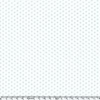 Toile enduite mini étoiles bleues fond blanc 20 cm x 140 cm