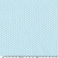 Toile enduite mini étoiles blanches fond bleu 20 cm x 140 cm