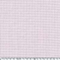 DERNIER COUPON Popeline Pastel pied de poule fond parme 60 x 140 cm