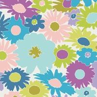 Tissu Dreamin Vintage Lazy Daisy Plum 20 x 110 cm