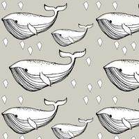 Jersey Baleines coloris sable 20 x 160 cm