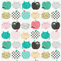 Tissu Applecats 20 x 110 cm