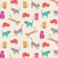 Tissu Chats joueurs 20 x 110 cm