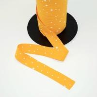 Biais Première Etoile imprimé mangue 1m