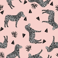 DERNIER COUPON Jersey Zebra pink 80 x 160 cm