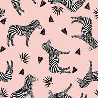 Jersey Zebra pink 20 x 160 cm