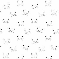 Jersey Cats blanc  20 x 160 cm