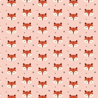 Jersey Sleepy Fox pink 20 x 160 cm