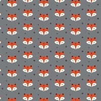 Jersey Sleepy Fox gris 20 x 160 cm