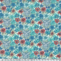 Liberty Scotty's Tiger turquoise coloris F 20 x 137 cm