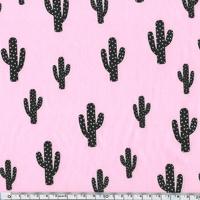 Cactus, poly/coton coloris litchi 20 x 140 cm