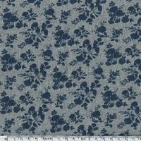 Sweat Fleurs fond gris 20 x 140 cm