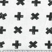 Molleton Croix fond blanc cassé 20 x 140 cm