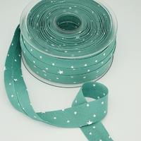 Biais Première Etoile imprimé menthe glacée 1m