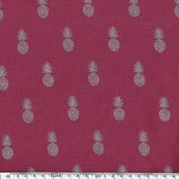 A nana's fabric Silver, voile de poly/coton framboise 20 x 140 cm