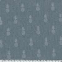 A nana's fabric Silver, polycoton denim 20 x 140 cm