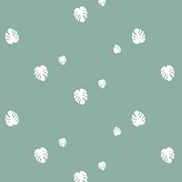 Monstera, poly/coton coloris menthe glacée 20 x 140 cm