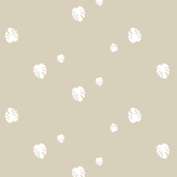 COUPON voile Monstera coloris beige 1m45 x 140 cm