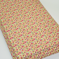 EXCLU Coupon de Liberty Molleton Helena's Meadow rose 2m x 150 cm