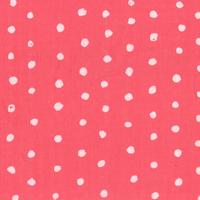 Tissu double-gaze Pois Pocho fond grenadine 20 x 110 cm
