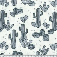 Jersey Cactus et croix coloris gris 20 x 160 cm