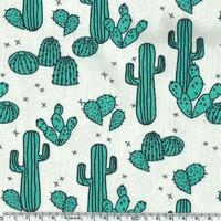 Jersey Cactus et croix coloris vert 20 x 160 cm