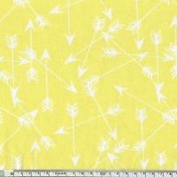 Jersey Flèches coloris jaune 20 x 160 cm