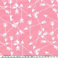 Jersey Flèches coloris rose 20 x 160 cm