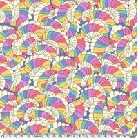 EXCLU Liberty Tana Crêpe Baby Rainbow 20 x 136 cm