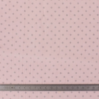 Crépon FDS rose à pois argentés 20 x 135 cm